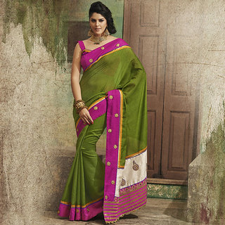 IshiMaya Green Designer Party wear Saree
