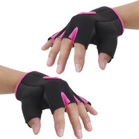 Imported Unisex Breathable Half Finger Bike Bicycle Cycling Riding Gloves Pink S