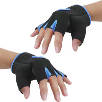 Imported Unisex Breathable Half Finger Bike Bicycle Cycling Riding Gloves Blue M