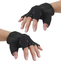Imported Unisex Breathable Half Finger Bike Bicycle Cycling Riding Gloves Black M