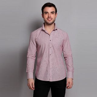 Striped Cotton Shirt With Cutaway Collar Design 2