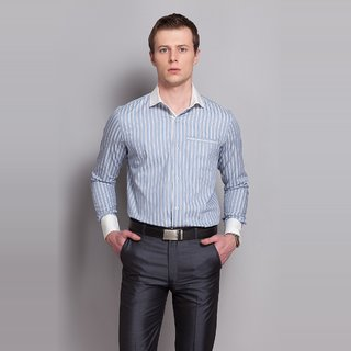 Striped Shirt With Contrast Details Design 2