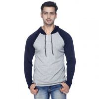 Mavango Grey Blue Long sleeve Light Hoodie For Men