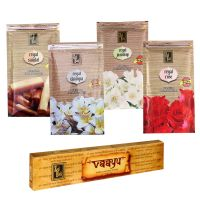 Zed Black Premium Incense Sticks Combo Of Rose, Sandal, Champa, Jasmine+ Free Vaayu Natural Incense Stick Of Rs 75