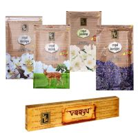 Zed Black Premium Incense Sticks Combo Of Champa, Jasmine, Musk, Lavender + Free Vaayu Natural Incense Stick Of Rs 75