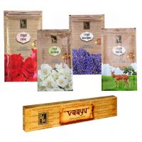 Zed Black Premium Incense Sticks Combo Of Rose, Jasmine, Musk, Lavender + Free Vaayu Natural Incense Stick Of Rs 75