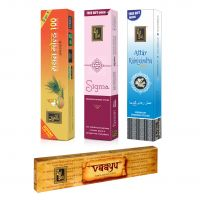 Zed Black Premium Incense Sticks Combo Of Sigma,Attar Rajnigandha, Mathan Gold 100 + Free Vaayu Incense Stick Of Rs 75