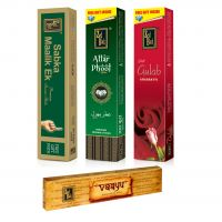 Zed Black Premium Incense Sticks Combo Of Attar Phool, Deep Gulab, Sabka Malik Ek+ Free Vaayu Incense Stick Of Rs 75