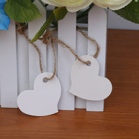 Imported 100 Paper Tag Heart Shape Wedding Party Gift Label Tag Craft Hanging White