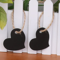 Imported 100 Paper Tag Heart Shape Wedding Party Gift Label Tag Craft Hanging Black