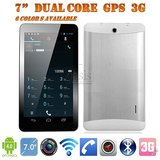 7 Inch MTK6572 Tablet 7 Dual Core Dual Sim 3g/2g Phone Call 512MB 4GB GPS