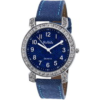 Relish Women's Denim Style High Quality Diamond Collection RELISH-L784