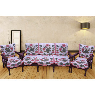 SNS MULTICOLOR FLORAL SOFA COVER SET OF 10