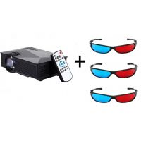 UC46 1200Lum 1080P HD 800  480 Resolution 3D Wireless Home Projector With Free Three 3D Glasses