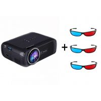 Everycom X7 LED Video Projector 1080P For Home Cinema Theater With Free Three 3D Glasses(Black)