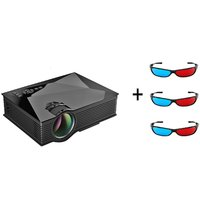 UC46 1200Lum 1080P HD 800  480 Resolution 3D Wireless Home Projector With Free Three 3D Glasses - 97162600