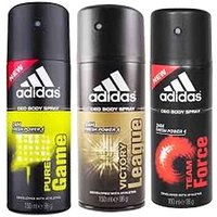 Adidas Set of 3 Deodorants 150ML Each