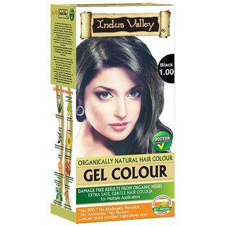 Indus valley Permanent hair color- Black 1.00