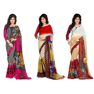 Stylobby Multicoloured Georgette Saree 2018193