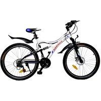 Addo India 26 Viper White Black 18 Speed Bronco Series MTB Bicycle