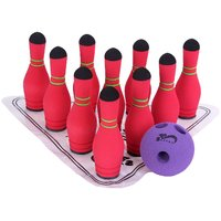 SafSof Mini Bowling Pin In Bag MBB-06 (10pin Set) Assorted Color