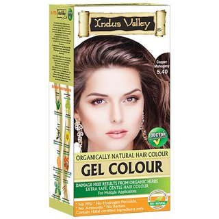 Indus valley Gel Hair color- Copper Mahogany 5.40