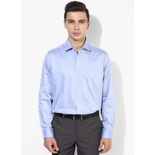 Blue Printed Formal Shirt For Men