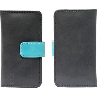 Jojo Pouch for LG G3 A (Black, Light Blue)