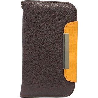 Jo Jo Flip Cover for Karbonn Titanium Octane (Brown, Orange)