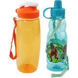 Kids  Water Bottles Combo of 2 - Blue & Orange