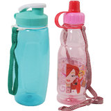 Kids Water Bottles Combo of 2 - Blue & Pink