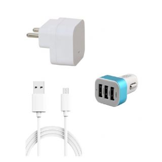 Premium Quality  Proper 15 Amp USB Charger  15 meter Copper Embedded USB Cable Data Transfer  Charging  Mobile Car Holder Compatible With Spice M6110 available at ShopClues for Rs.278