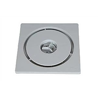 SHRUTI Abs Floor Trape  Gutter Jali for all types of water drain outlet. Comes with Free Filter Cup Set - 1262(Grey) 1272