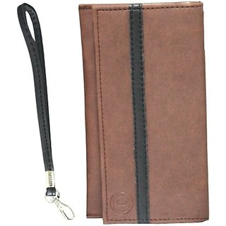 Jojo Pouch for Alcatel One Touch Star (Light Brown, Black)