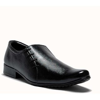 AT Classic Black Slip-on Formal Shoes