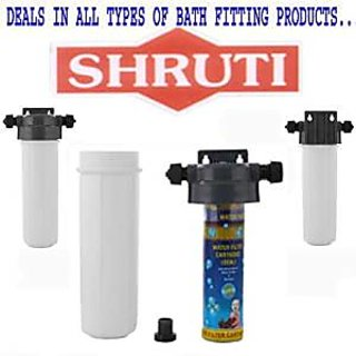 SHRUTI 10 Filter Bowl with Clamp, Pipe , 1 Pcs cartridge for Water Filter Full set.