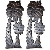 Onlineshoppee Wooden Antique Tree Shape Key Holder,Pack Of 2
