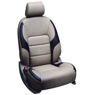 Hi Art Leatherite Grey Black Seat Covers For Vitara Brezza