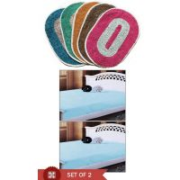 HDECORE Combo Of 5 Door Mats And Pair Of Mattress Cover 36x72x5