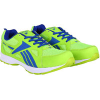 Fitze Sports Shoes For Men Made By Mesh Textile And Eva Sole Green And Royal Blue