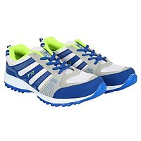 Fitze Men'ss Blue,Grey and White Lace-Up Running Shoes