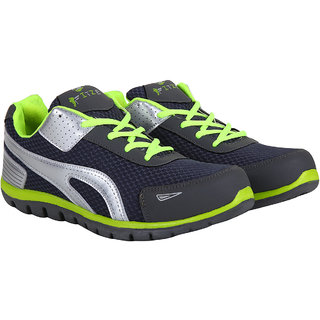 Fitze MenS Grey Green LaceUp Running