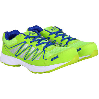 Fitze Sports Shoes For Men Made By Mesh Textile And Eva Sole Green