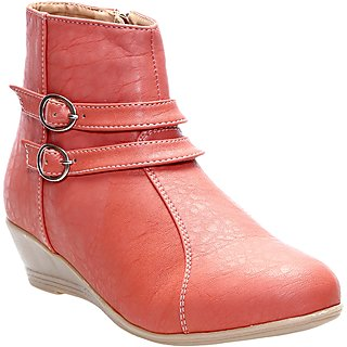 CATBIRD Women Peach Stylish Casual Boots E30-52