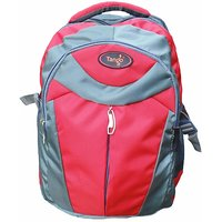 Tango School bag ( Grey  Red)