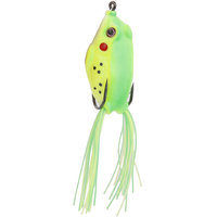 Imported Frog Fishing Lure Crankbait Hooks Bass Bait Tackle - Green Yellow