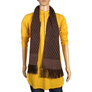 Modo Vivendi High Quality Winter Soft Woolen Fashionable Muffler For Men ( Brown )