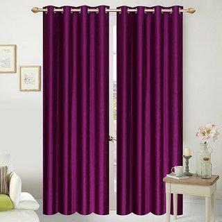 Shopgalore Set of 2 Plain Door Curtains