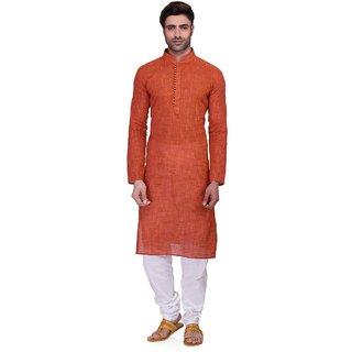 RG Designers Mens Full Sleeve Kurta Pyjama Set AVHandloomLoops-Red
