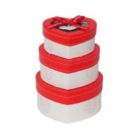 STRIPES Present A Very Elegant  Durable Set Of 3 Heart Shape Cardboard Gift Box